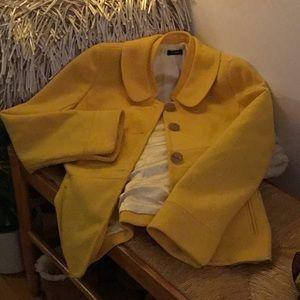 J. Crew Yellow Pea Coat